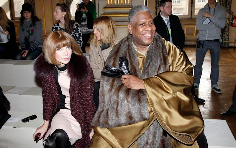 Andre Leon Talley with Anna Wintour - Getty