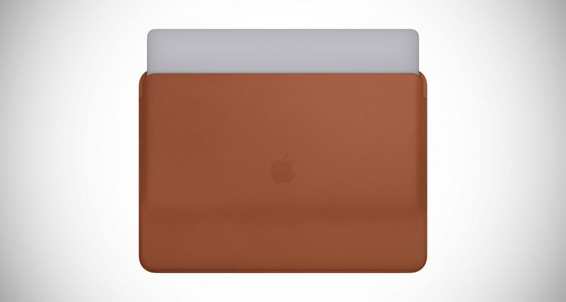 The MacBook Pro gets its own official Apple leather sleeve