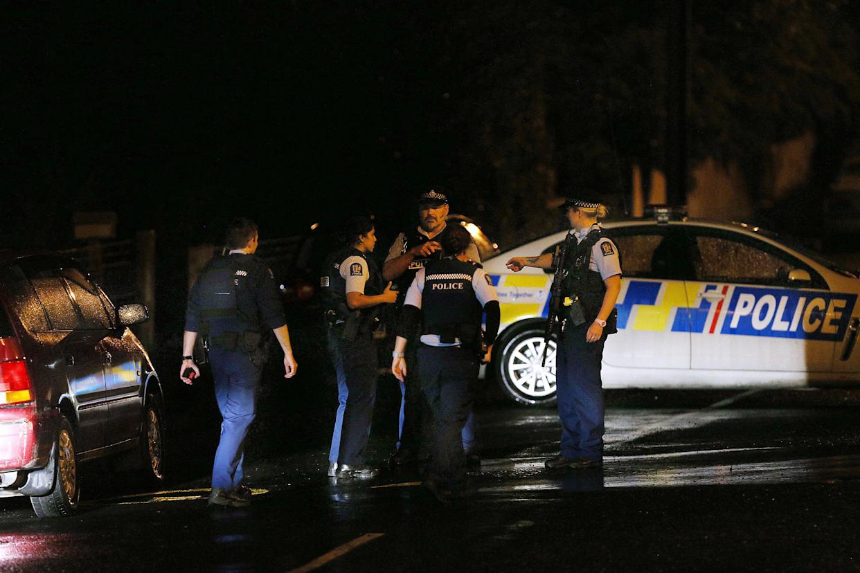 Police investigate a property at Somerville Street on March 15, 2019 in Dunedin, New Zealand. (Photo: Dianne Manson/Getty Images)