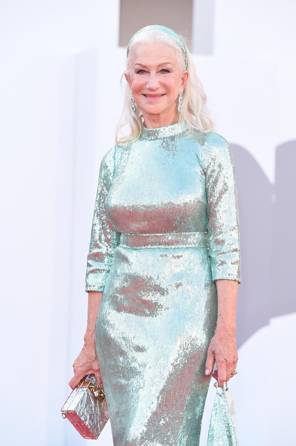 VENICE, ITALY - SEPTEMBER 01:  Helen Mirren attends the red carpet of the movie