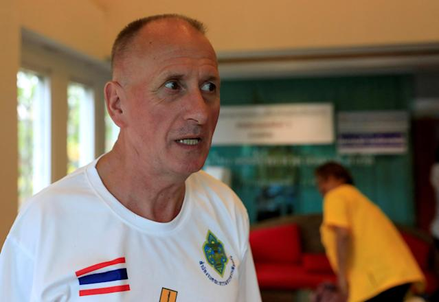 British caver Vern Unsworth was interviewed by Reuters in the northern province of Chiang Rai, Thailand, on July 17. (Photo: Soe Zeya Tun/Reuters)