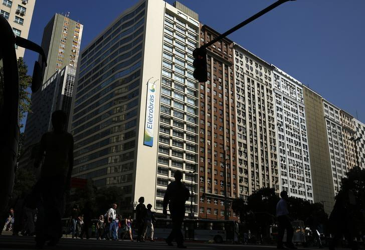 A view of the headquarters of Brazil's power company Eletrobras in downtown Rio de Janeiro