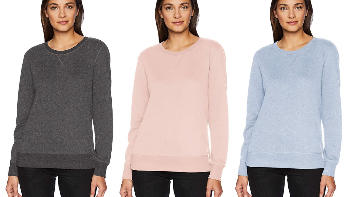 Meet Charcoal Heather, Light Pink and Light Indigo Heather. Fifteen more choices are just a click away. (Photo: Amazon)