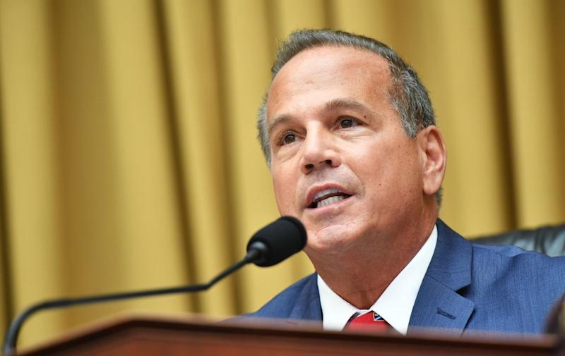 "House Judiciary Subcommittee on Antitrust, Commercial and Administrative Law Chair David Cicilline, D-RI, speaks during a hearing on ""Online Platforms and Market Power"" in the Rayburn House office Building on Capitol Hill in Washington, DC on July 29, 2020. (Photo by MANDEL NGAN/POOL/AFP via Getty Images)"