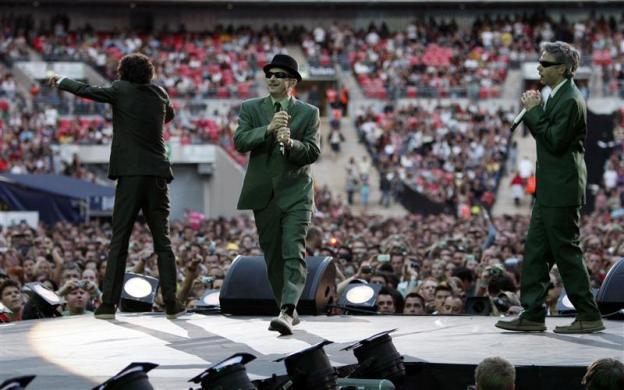 The Beastie Boys perform during the Live Earth concert at Wembley Stadium in London, July 7, 2007.