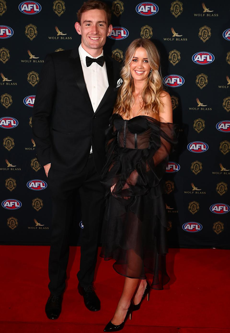 Harris Andrews and Emily Halverson at the Brownlow Medal 2021