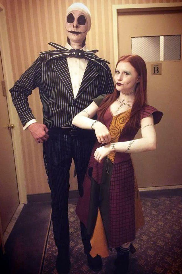 """<p>If you two are into being a little spooky, try dressing up as the Pumpkin King and his beloved rag doll sweetheart. After all, as beautiful as this pair's story is in <em><a href=""""https://www.amazon.com/Tim-Burtons-Nightmare-Before-Christmas/dp/B003SI05PG/?tag=syn-yahoo-20&ascsubtag=%5Bartid%7C10055.g.2625%5Bsrc%7Cyahoo-us"""" rel=""""nofollow noopener"""" target=""""_blank"""" data-ylk=""""slk:The Nightmare Before Christmas"""" class=""""link rapid-noclick-resp"""">The Nightmare Before Christmas</a></em>, these costumes are undeniably creepy IRL. </p><p><a class=""""link rapid-noclick-resp"""" href=""""https://www.amazon.com/Disney-Skellington-Prestige-Costume-X-Large/dp/B06X9LS74B/?tag=syn-yahoo-20&ascsubtag=%5Bartid%7C10055.g.2625%5Bsrc%7Cyahoo-us"""" rel=""""nofollow noopener"""" target=""""_blank"""" data-ylk=""""slk:SHOP JACK SKELLINGTON COSTUME"""">SHOP JACK SKELLINGTON COSTUME</a></p><p> <a class=""""link rapid-noclick-resp"""" href=""""https://www.amazon.com/Sassy-Sally-Adult-Costume-Small/dp/B003IC5SIG/?tag=syn-yahoo-20&ascsubtag=%5Bartid%7C10055.g.2625%5Bsrc%7Cyahoo-us"""" rel=""""nofollow noopener"""" target=""""_blank"""" data-ylk=""""slk:SHOP SALLY COSTUME"""">SHOP SALLY COSTUME</a> </p>"""