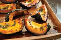 "If you're looking for a little sweetness, this is one of the best acorn squash recipes. On a cool evening, serve this roasted acorn squash tossed with honey, nutmeg, and fresh sage leaves as a side dish for <a href=""https://www.epicurious.com/recipes-menus/easy-pork-recipes-gallery?mbid=synd_yahoo_rss"" rel=""nofollow noopener"" target=""_blank"" data-ylk=""slk:pork"" class=""link rapid-noclick-resp"">pork</a> or <a href=""https://www.epicurious.com/ingredients/our-25-top-rated-chicken-recipes-gallery?mbid=synd_yahoo_rss"" rel=""nofollow noopener"" target=""_blank"" data-ylk=""slk:chicken"" class=""link rapid-noclick-resp"">chicken</a>, or nestle a few slices in a bowl of whole grains. <a href=""https://www.epicurious.com/recipes/food/views/roasted-acorn-squash-with-sage-and-honey?mbid=synd_yahoo_rss"" rel=""nofollow noopener"" target=""_blank"" data-ylk=""slk:See recipe."" class=""link rapid-noclick-resp"">See recipe.</a>"