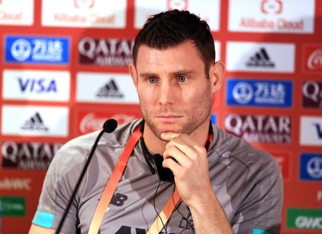 James Milner is determined to help Liverpool win a first Club World Cup title (Adam Davy/PA)