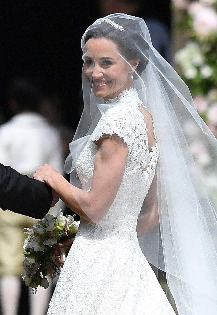 Pippa Middleton in a stunning Giles Deacon gown.