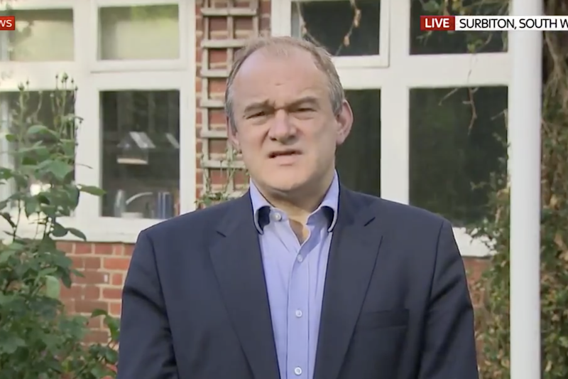 Lib Dem leader Ed Davey called for Dominic Cummings to go: Sky News