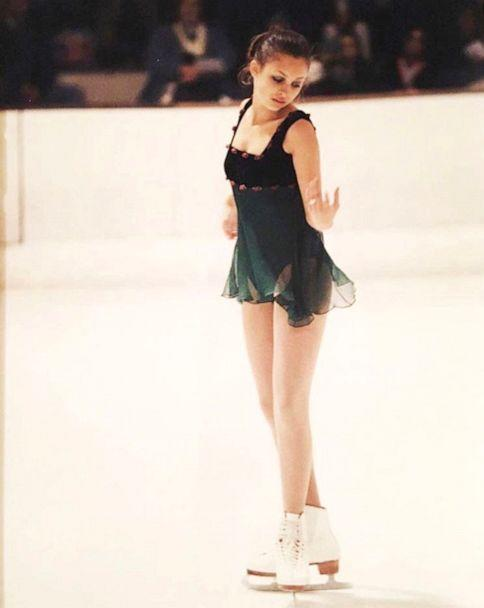 PHOTO: Teenage Nicole Richie performs on the ice during a figure skating routine. (via Nicole Richie)