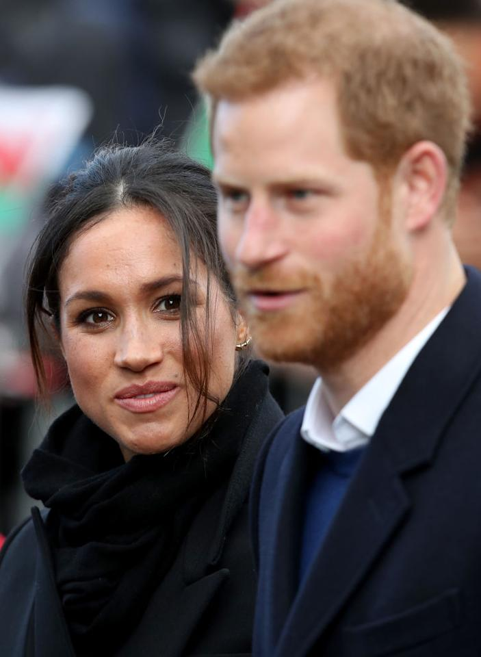 <p>Prince Harry and Meghan Markle greeted large crowds as they toured Cardiff Castle on Thursday. The purpose of the trip was to showcase the heritage and culture of Wales, but all eyes were on Harry's stunning fiancée. </p>