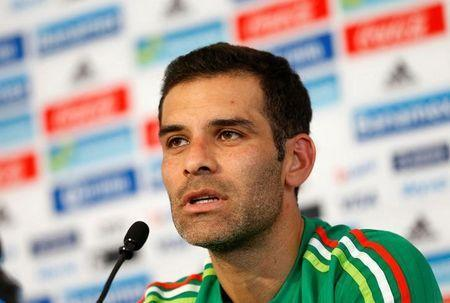 Football Soccer - Mexico news conference - USA 2016 Centennial Copa America - Mexico City, Mexico - 24/05/16. Mexico's defender Rafael Marquez attends a news conference. REUTERS/Henry Romero Picture Supplied by Action Images