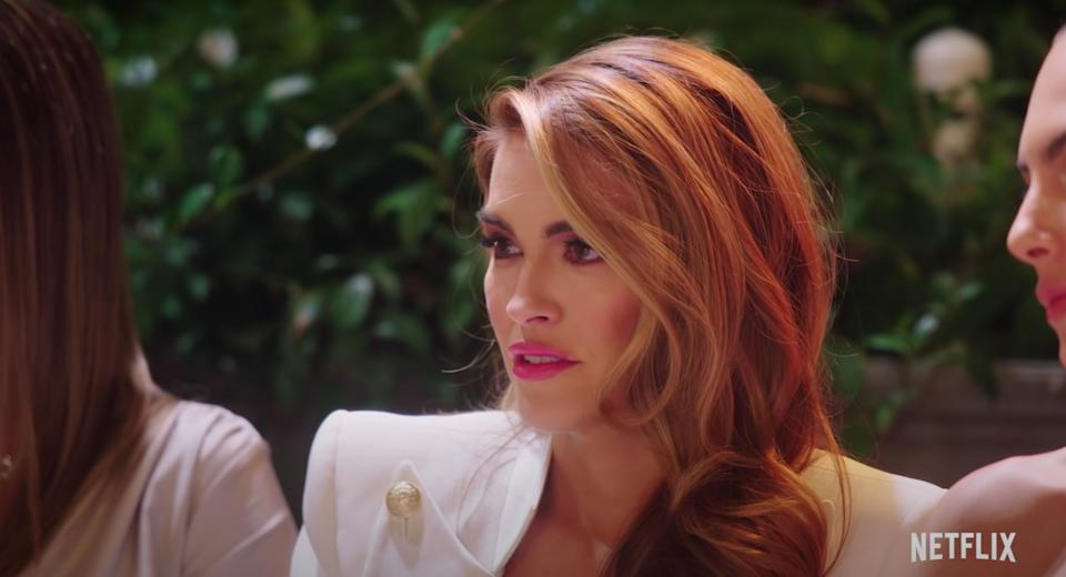 Chrishell Stause is at the centre of drama at Christine's wedding (Photo: Netflix)