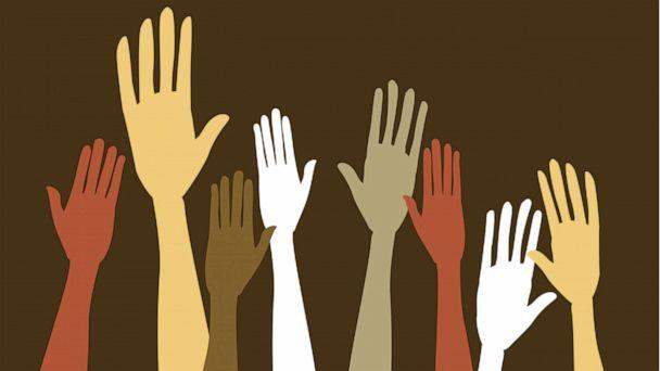 ILLUSTRATION: Hands and arms of various colors and tones appear in a stock illustration. (STOCK/Getty Images)