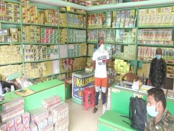Firecrackers shop in Lucknow