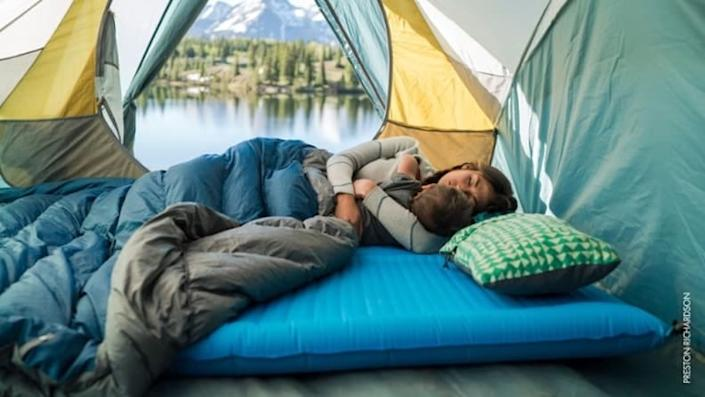 This pillow squishes down into a compact form that's easy to pack.