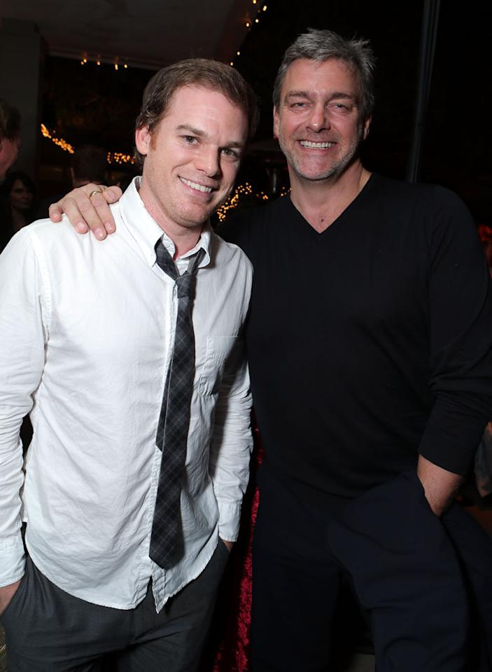 Michael C. Hall and Ray Stevenson at Showtime's 7th Annual Holiday Soiree on December 3, 2012 in Beverly Hills, California.