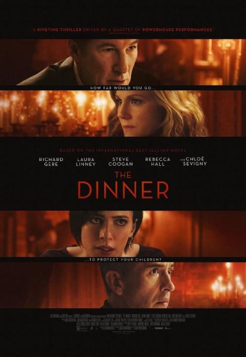 Two couples meet for dinner to discuss a crime both their sons recently committed. Richard Geer and Laura Linney star.