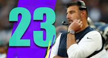 <p>The decision to go for the two-point conversion was the right one. But how do you line up with an empty backfield from the 1-yard line? (Mike Vrabel) </p>