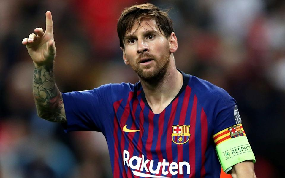 Lionel Messi celebrated his Barcelona appearance record - PA