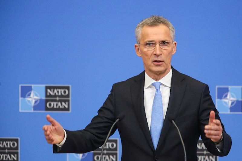 NATO Secretary General Jens Stoltenberg (pictured February 2019) said building work on a storage facility for US military equipment in Poland will start later in 2019 and is expected to take two years