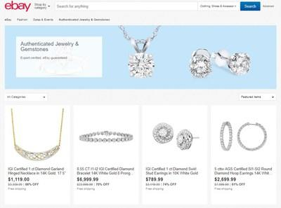 eBay expands eBay Authenticate™ into the luxury jewelry category, offering shoppers more than 45,000 high-end diamond and other gemstone jewelry, verified by professional authenticators.