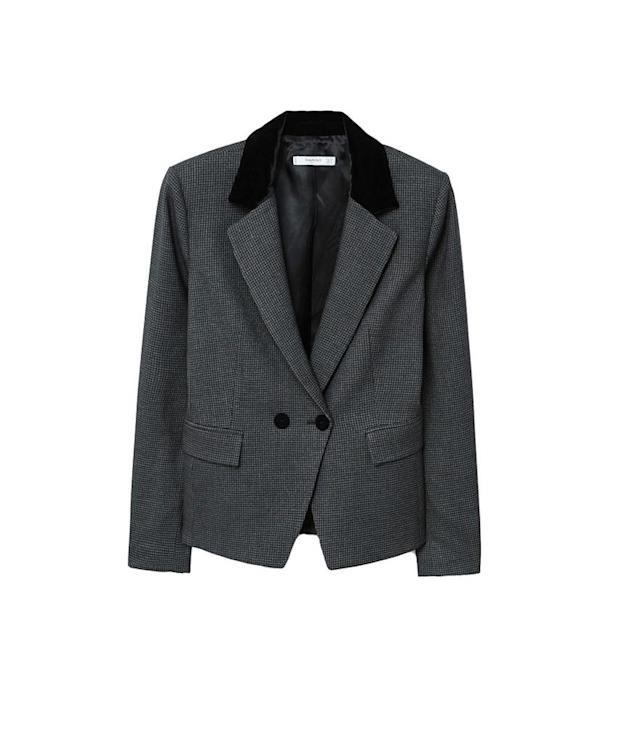"<p>Mango Lapels Houndstooth Suit Blazer, $100, <a href=""https://www.charlotterusse.com/qupid-metallic-ankle-booties/302346323.html?mrkgcl=776&mrkgadid=3208896685&rkg_id=h-cd68ae945012af739fd475391cadd3c2_t-1510864725&cid=cse:POLY:%3CDEVICE%3E:302346323&rkg_attid=3208896685&device=desktop&country=%3CCOUNTRY%3E&keyword=ankle%20booties"" rel=""nofollow noopener"" target=""_blank"" data-ylk=""slk:mango.com"" class=""link rapid-noclick-resp"">mango.com</a><br> (Data: Long Tall Sally, Instagram) </p>"