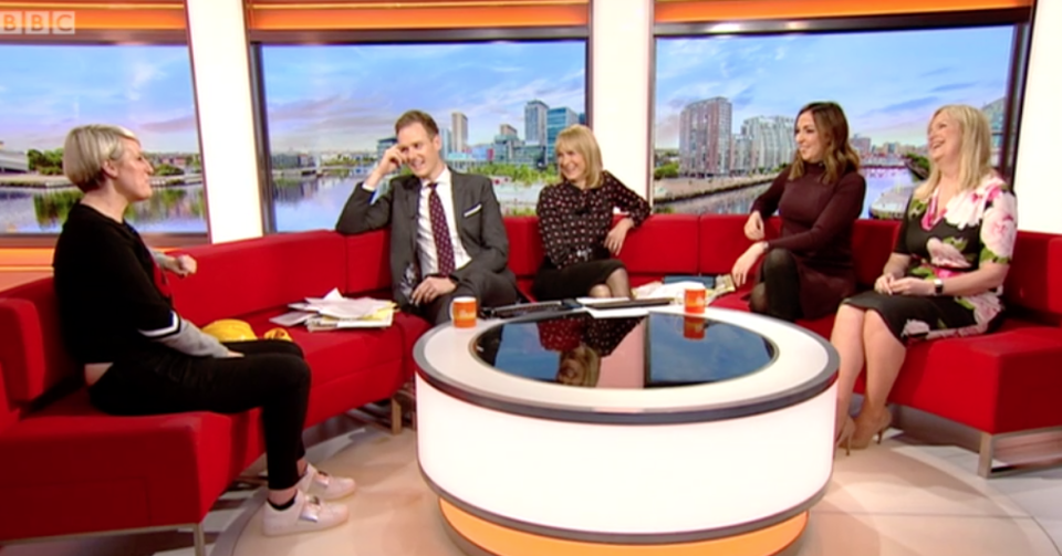 Steph McGovern was joined by her former colleagues. (BBC)
