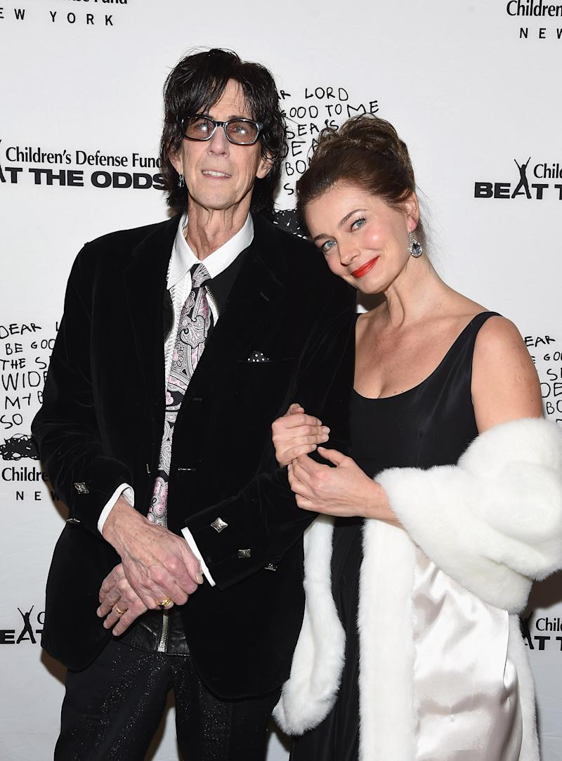 Ric Ocasek and Paulina Porizkova attend the 2016 Children's Defense Fund-New York Beat the Odds Gala in 2016. (Photo: Gary Gershoff/WireImage)