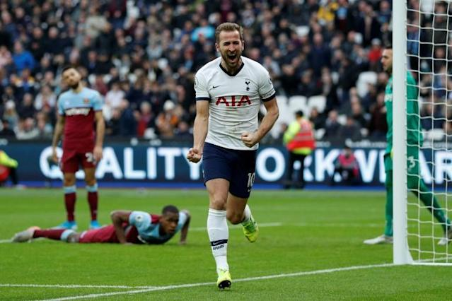 Harry Kane scored Tottenham's third goal (AFP Photo/Adrian DENNIS)