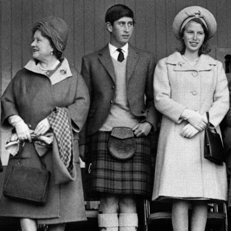 The Queen Mother and Princess Anne attended the wedding without Charles, they are pictured here in 1965