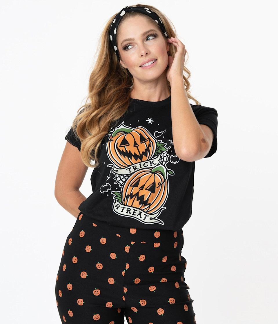 <p>The <span>Trick or Treat Pumpkins Graphic Unisex Tee</span> ($28) is too gourd to be true. </p>