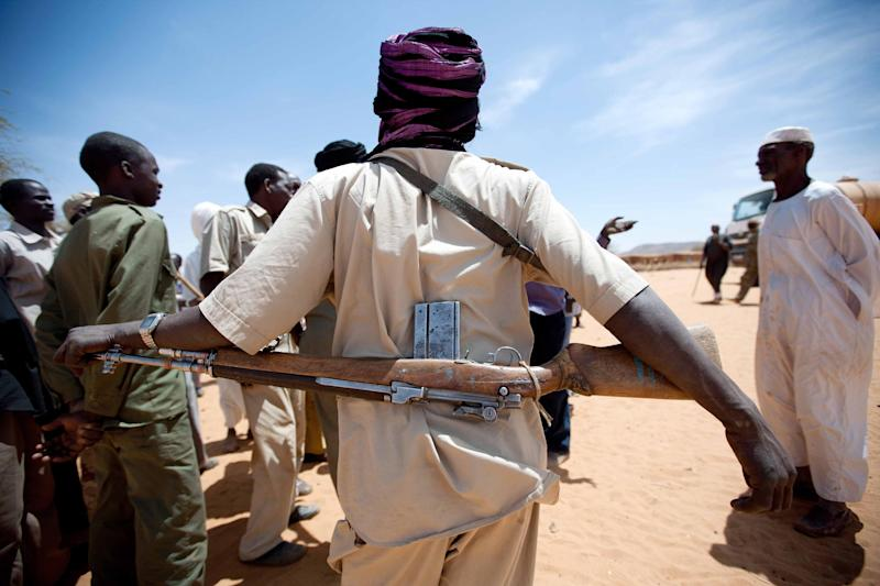 Picture released by the United Nations-African Union Mission in Darfur (UNAMID) shows a member of the Sudan Liberation Army (SLA) rebel movement in Forog, a remote area in north Darfur, on March 28, 2012