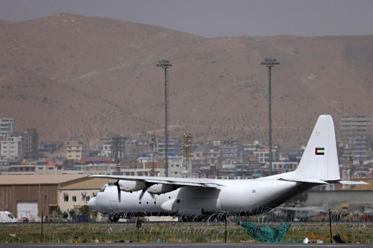 There was news of flights resuming at Kabul airport as Pakistan's national carrier said it may soon resume flights and two planes from the UAE brought in aid supplies (AFP/Karim SAHIB)