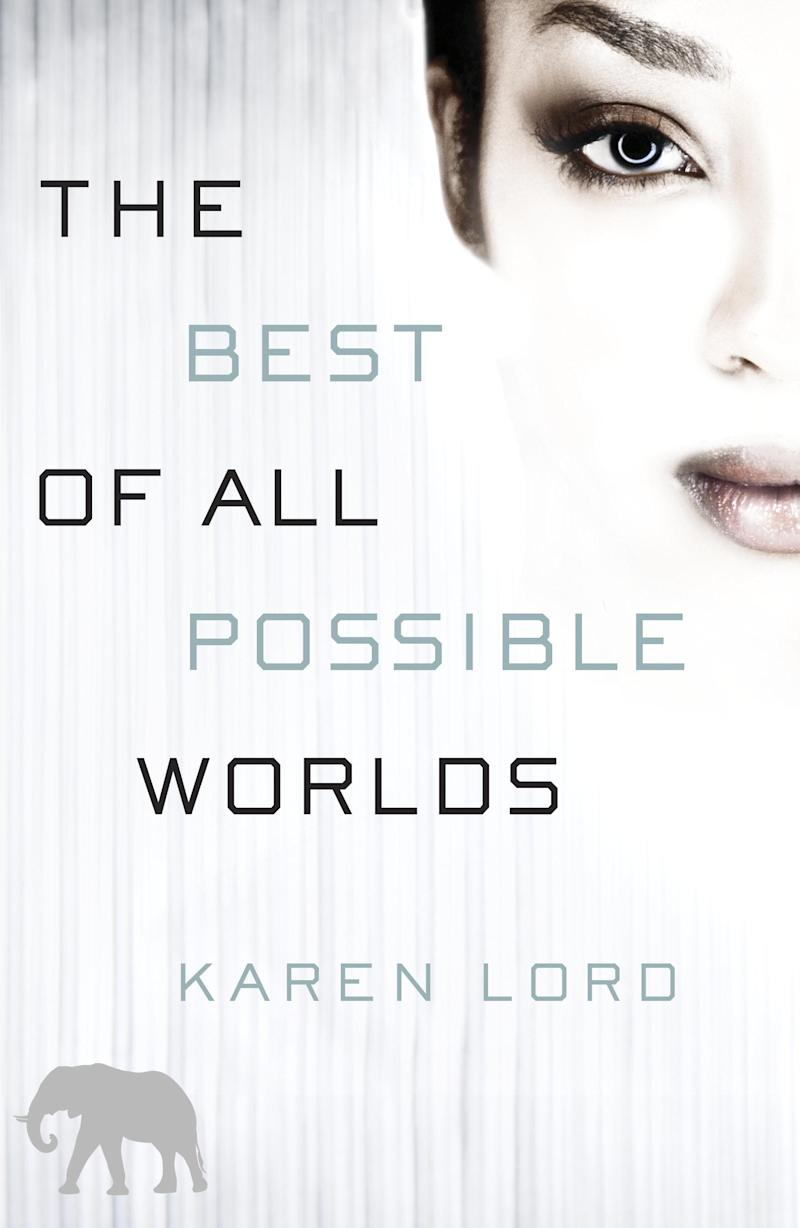 """This book cover image released by Del Rey shows """"The Best of All Possible Worlds,"""" by Karen Lord. (AP Photo/Del Rey)"""