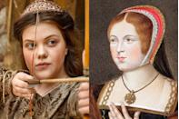 <p>Little Lucy Pevensie is all grown up. George Henley, who played C.S. Lewis's iconic character in the <em>Chronicles of Narnia </em>films now appears in <em>The Spanish Princess </em>as Prince Harry's sister Meg, who goes on to become the Queen of Scots.</p>
