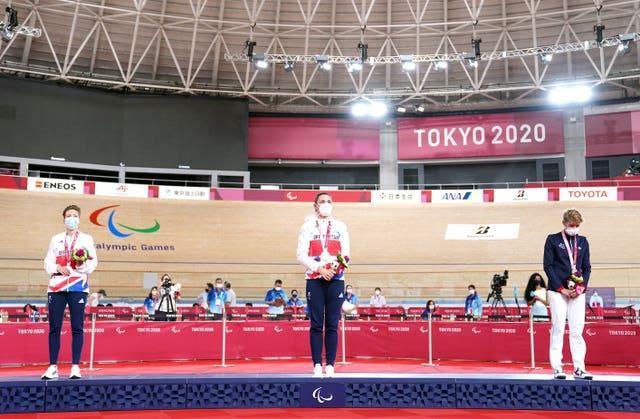 It was a familiar position for Storey on top of the podium