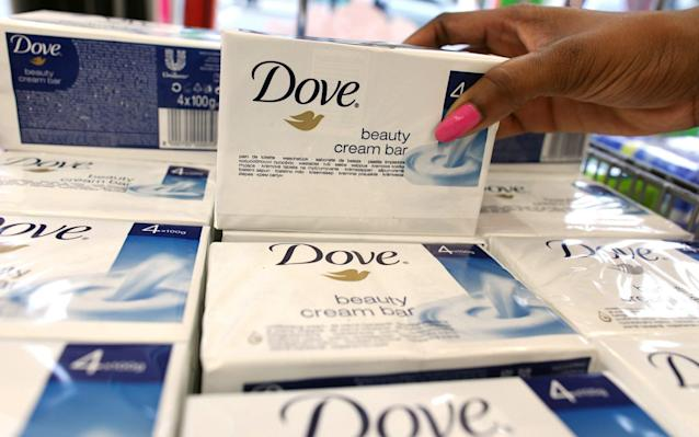 Dove soap bars will soon be wrapped in plastic free wrapping. - Bloomberg News