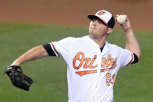 "O's closer <a class=""link rapid-noclick-resp"" href=""/mlb/players/8771/"" data-ylk=""slk:Zach Britton"">Zach Britton</a> could be out until the All-Star break. (Getty Images)"