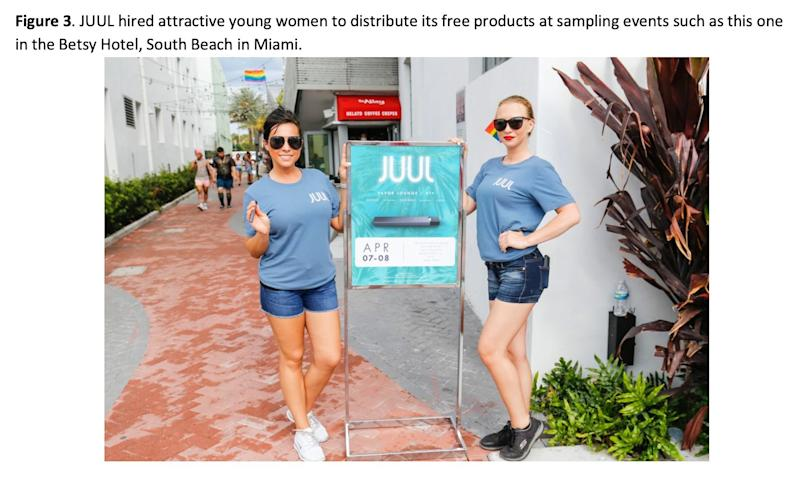 Juul marketing tactics seem to be an evolved version of Big Tobacco advertising. (Source: )