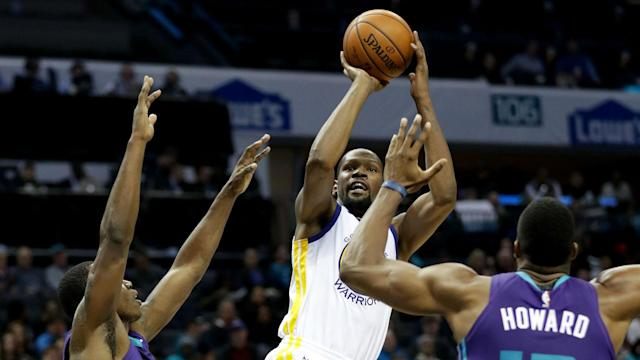 On Wednesday night in Charlotte, Warriors star Kevin Durant sent a message to the rest of the league. He is still an absolute force when necessary, even if basketball fans don't get to see that version of him all that often.