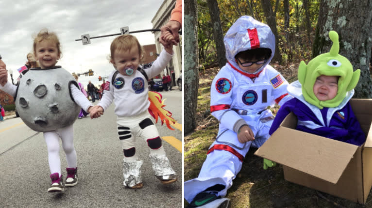 These Kids' Space-Themed Halloween Costumes Were Out Of This World