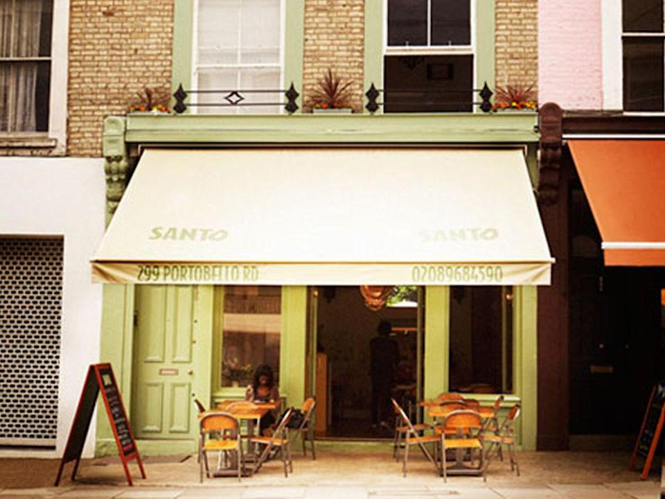 "<p>Santo rescues Mexican establishments from tired clichés and mixes its tasteful bare-brick-wall setting with authentic, homemade food and drink in the quieter end of Portobello Road. </p><p><a href=""http://santovillage.com/"" rel=""nofollow noopener"" target=""_blank"" data-ylk=""slk:santovillage.com"" class=""link rapid-noclick-resp"">santovillage.com </a></p>"