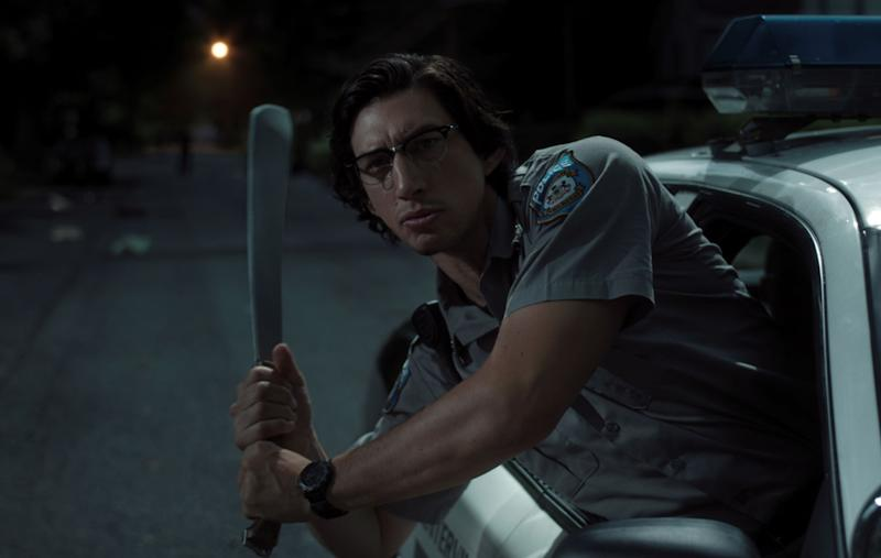 Adam Driver battles ghouls in <i>The Dead Don't Die</i>. (Universal)