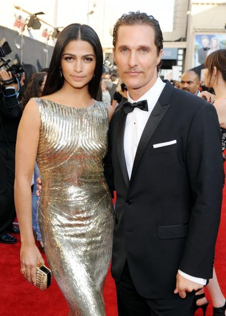 Camila Alves and Matthew McConaughey step out at the 39th AFI Life Achievement Award Honoring Morgan Freeman held at Sony Pictures Studios in Culver City, Calif. on June 9, 2011  -- Getty Images