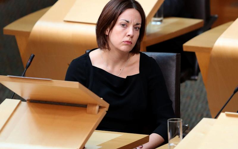 Scottish Labour party leader Kezia Dugdale during First Minister's Questions - Credit: PA
