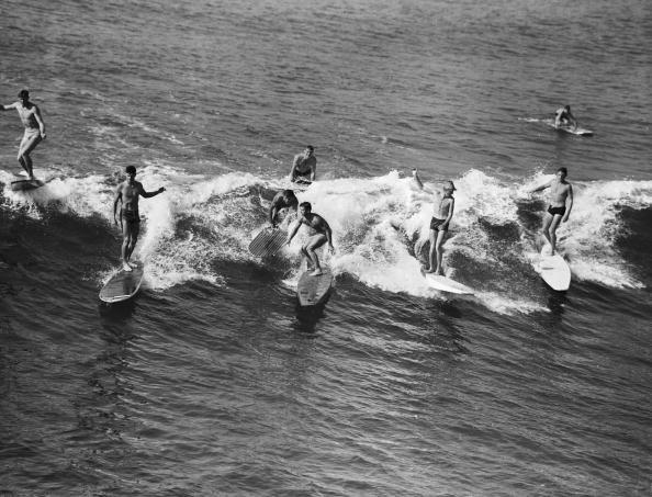 <p>This phrase, which essentially means to show off, came over from '50s California surf culture.</p>
