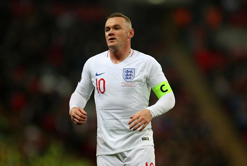 LONDON, ENGLAND - NOVEMBER 15: Wayne Rooney of England during the International Friendly match between England and United States at Wembley Stadium on November 15, 2018 in London, United Kingdom. (Photo by Catherine Ivill/Getty Images)